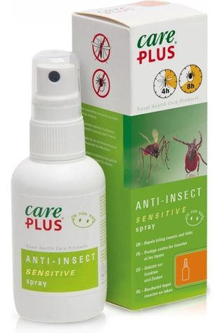 Care Plus Insectenwering Spray Sensitive Icaridine 12,5% 60ml Geen kleur / Transparant
