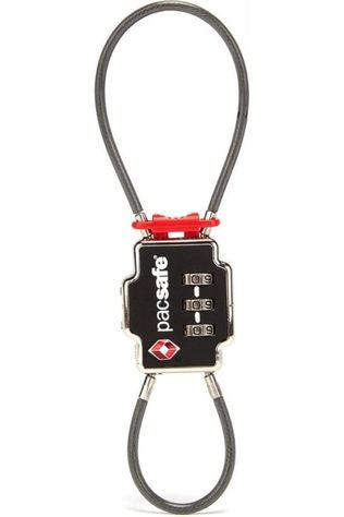 Pacsafe Anti-Diefstal TSA Accepted 3 Dial Double Cable Lock Zwart