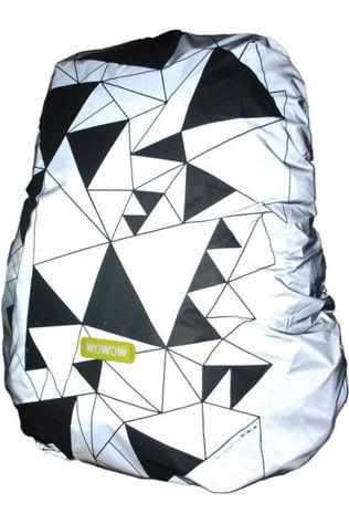 Wowow Reflective Material Bag Cover Urban Street white/black