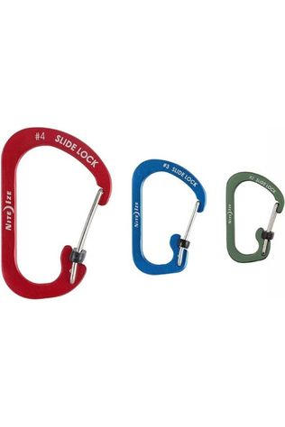 Nite Ize Carabiner Slidelock Carabiner Aluminium 3-Pack Assorted / Mixed