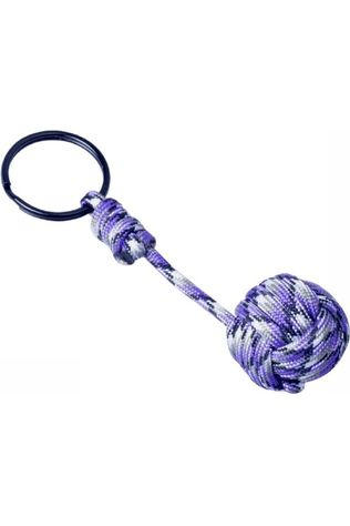 Munkees Miscellaneous Paracord Monkey Fist mid purple/white