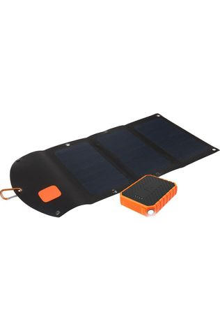 Xtorm Outdoor Kit Solarbooster 21 Watt Paneel + Power Bank Rugged 10000 Zwart/Oranje