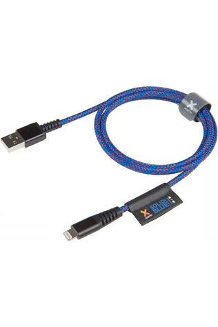 Xtorm Oplader Acc Solid Blue Cable Lightning  Middenblauw/Middenrood