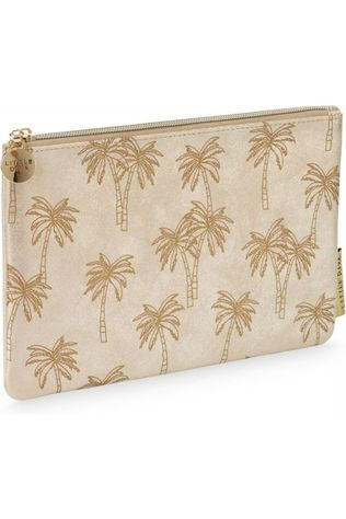 Little Diva Pencil Case Flat Palmtree Geen kleur