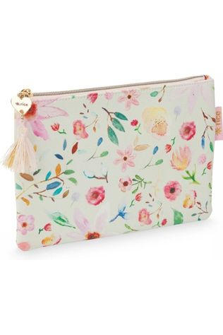 Rice Rice Pencil Case Flat Flower Geen kleur