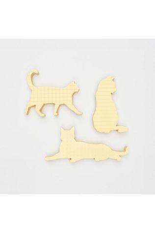 Good Design Works Gadget Cat Sticky Notes Jaune Clair