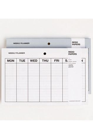 Redopapers Weekly Planner No colour / Transparent