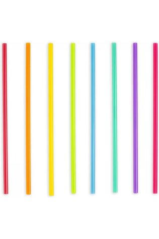 Kikkerland Gadget Bright Color Reusable Straws Assortiment