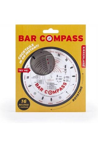 Kikkerland Gadget Bar Compass silver/mid red