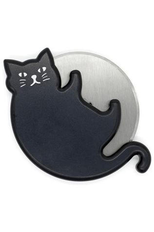 Kikkerland Gadget Cat Lovers Pizza Cutter Zwart