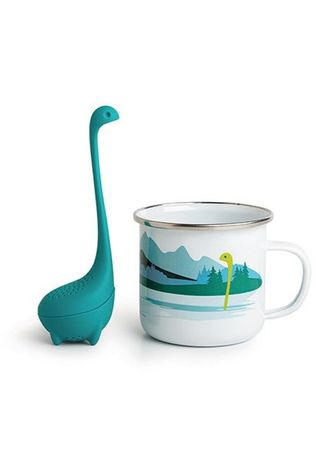 Ototo Gadget Cup Of Nessie Tea Infuser White/Turquoise