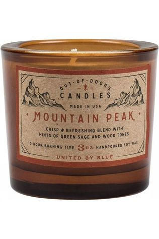 United by Blue Gadget Mountain Peak Out Of Doors Candle 3Oz mid brown