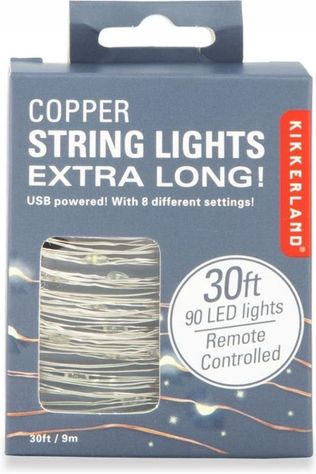 Kikkerland Xl Copper String Lights Geen kleur