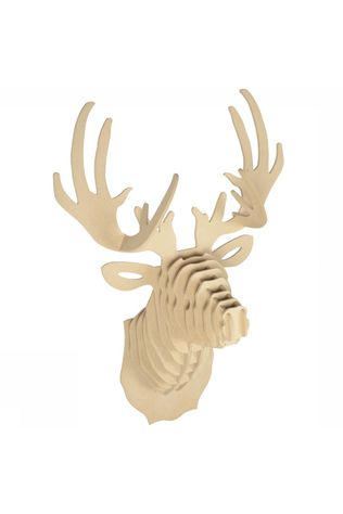 Le Studio Gadget Wooden Deer Head light brown