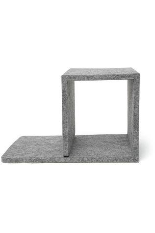 Kikkerland Gadget Cube Bedside Table Gris Clair