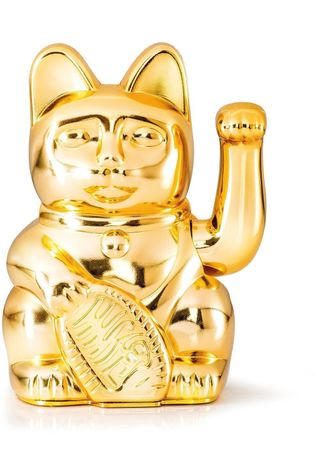 Donkey Gadget Lucky Cat Glossy Gold Goud