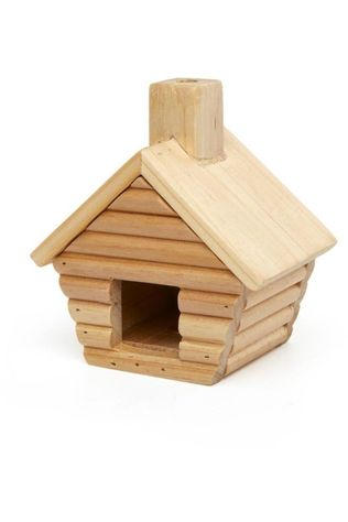 Kikkerland Gadget Little Cabin Incense Burner Lichtbruin