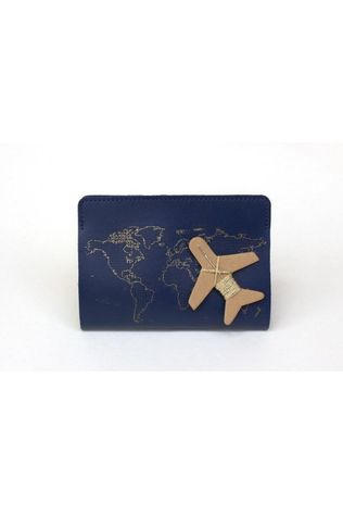 Chasing Threads Gadget Stitch Passport Cover Bleu Foncé