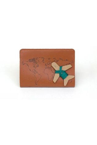 Chasing Threads Gadget Stitch Passport Cover Brun moyen