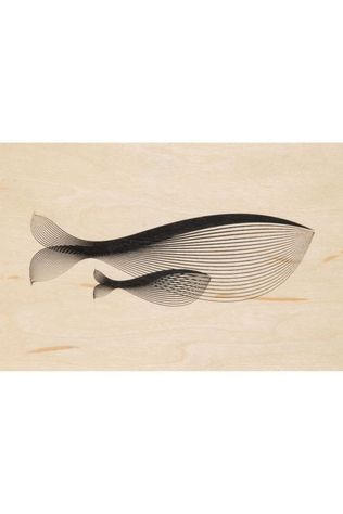 Woodhi Gadget Postcard Whale Brun Clair/Assorti / Mixte