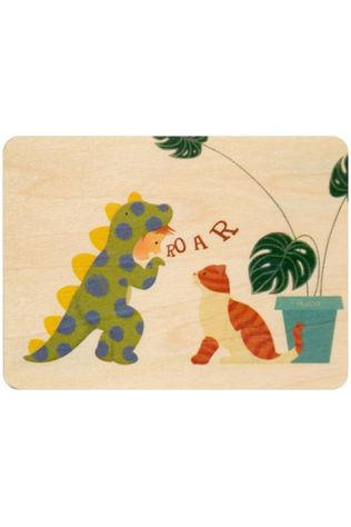 Woodhi Gadget Postcard Roar Brun Clair/Assorti / Mixte