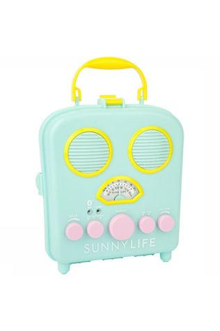 Sunnylife Gadget Beach Sounds Radio Bleu Clair/Jaune Moyen