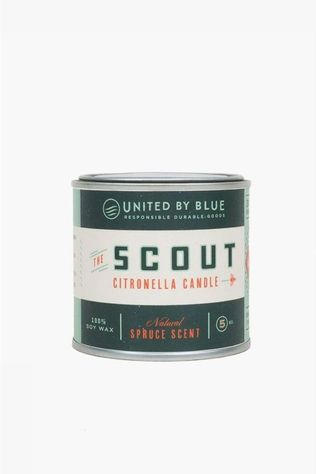United by Blue Gadget Citronella Candle 5Oz dark green/white