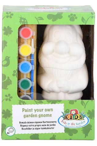 Esschert Gadget Paint YOur Own Garden Gnome Blanc