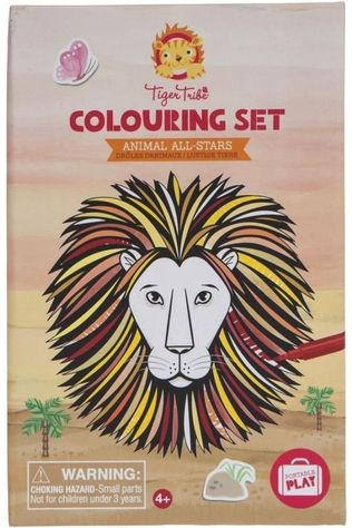 Tiger Tribe Game Colouring Sets Animals All Stars No colour / Transparent