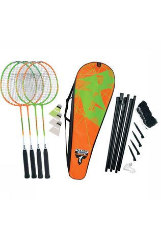 Talbot Torro Toys Badminton Set 4 Attacker Plus Lime Green/Orange