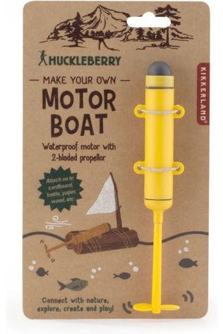 Kikkerland Speelgoed Hb Make Your Own Motor Boat Middengeel/Zwart