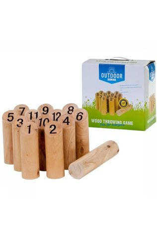 Outdoor Play Jouets Wood Throwing Game Brun Clair