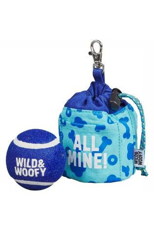 Wild and Woofy Speelgoed Fetch And Treat Pouch With Ball Lichtblauw/Middenblauw
