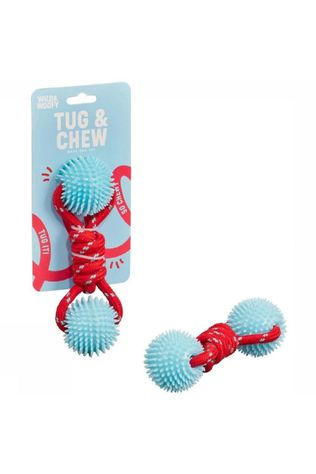 Wild and Woofy Speelgoed Tug And Chew Toy Lichtblauw/Middenrood