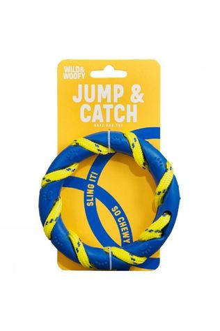 Wild and Woofy Speelgoed Jump And Catch Toy Middenblauw/Middengeel