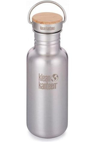 Klean Kanteen Gourde Reflect Single Wall 18Oz 532Ml Bamboo Argent