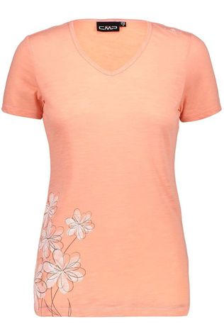 CMP T-Shirt Alps Heart Flower Linen Orange