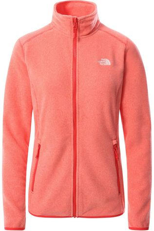 The North Face Fleece 100 Glacier Donkerrood