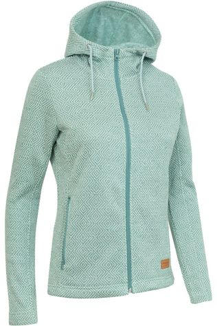 Ayacucho Fleece Chilly Spring Hoody Groen/Wit