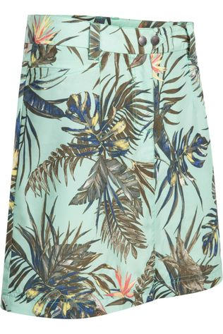 Jack Wolfskin Skort Sonora Tropical light green/Assortment Flower