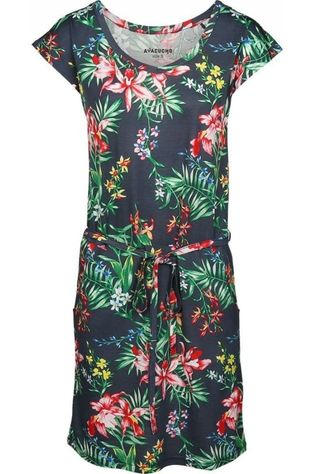 Ayacucho Dress Malibu Marine/Assortment Flower