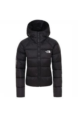 The North Face Donsjas Crop 550 Down Hoodie Zwart