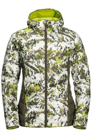 Jack Wolfskin Down Helium Peak Down Hoody Lime Green/Taupe