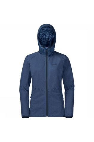 Jack Wolfskin Softshell Sky Point Hoody Middenblauw