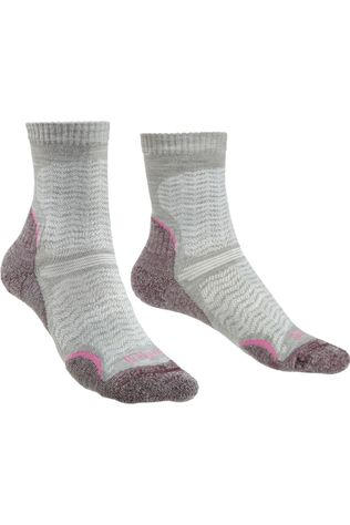 Bridgedale Sock Hike Merino Endurance Ultra Light T2 Ecru/Bordeaux / Maroon