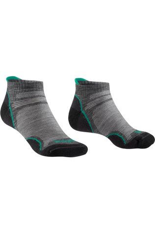 Bridgedale Chaussette Hike Merino Performance Ultralight T2 Low Gris Moyen/Vert Moyen