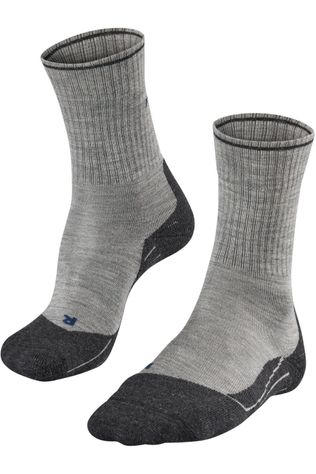 Falke Sock Tk2 Wool Silk light grey/mid grey