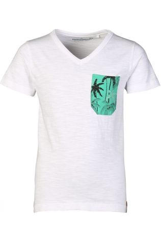Stones and Bones T-Shirt Stanton Palmtrees Blanc