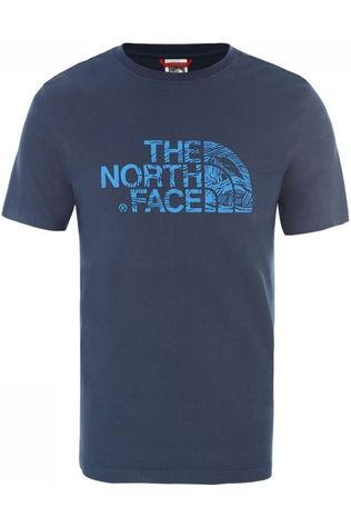The North Face T-Shirt Woodcut Dome Middenblauw