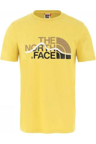 The North Face T-Shirt Mountain Line Heather Grey Geel